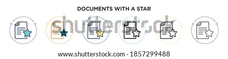 Linear chart document filled outline icon, line vector sign, linear bicolor pictogram isolated on wh stock photo © kyryloff