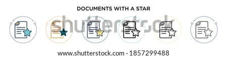Linéaire graphique document icône ligne Photo stock © kyryloff