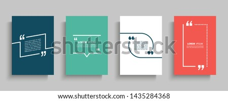 Chat or quote square template. Quotes form and speech box isolated on modern background. Vector illu Stock photo © kyryloff