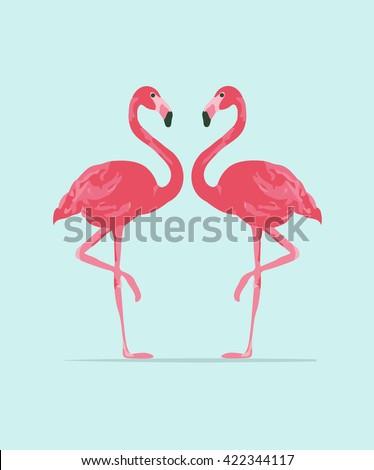flamingó · minta · végtelen · minta · madár · rózsaszín - stock fotó © marysan
