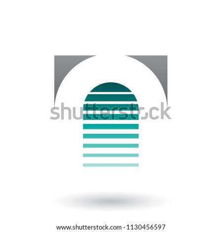 Stockfoto: Zwarte · groene · icon · brief · vector · illustratie