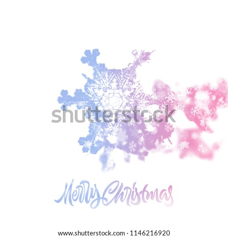 Christmas snowflake with double exposure effect adding falling snow stock photo © SwillSkill