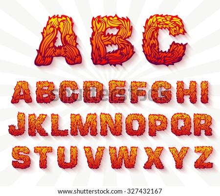 Brand ingesteld doopvont alfabet tekst vector Stockfoto © Linetale
