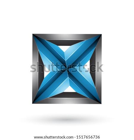 Nero blu 3D geometrica piazza triangolo Foto d'archivio © cidepix