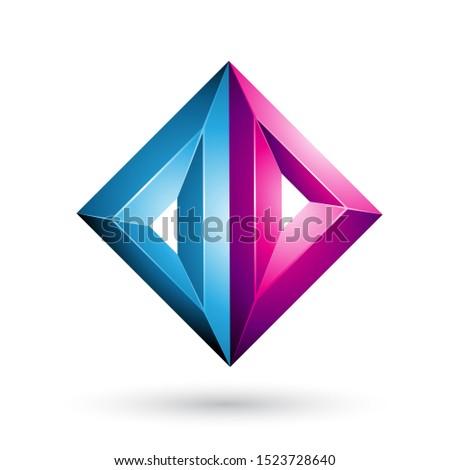 Azul magenta 3D geométrico triângulo diamante Foto stock © cidepix