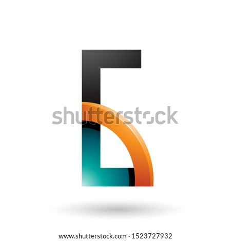 persian green and orange letter g with a glossy quarter circle v stock photo © cidepix