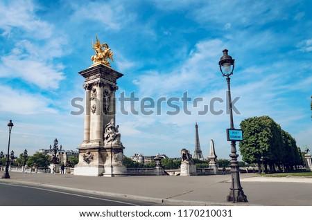Scultura la combattere Parigi Francia cielo Foto d'archivio © boggy