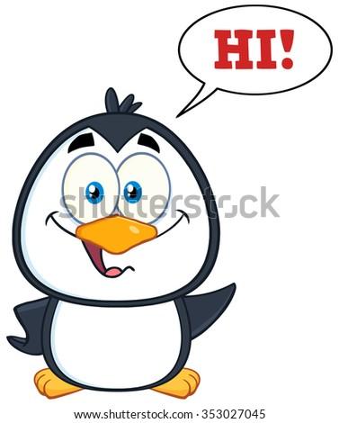 gelukkig · cartoon · mascotte · karakter · tekstballon · tekst - stockfoto © hittoon