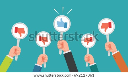 Disagree Person Vector. Business Disagree Dislike People. Finger Down. Negative Mark. Illustration Stock photo © pikepicture