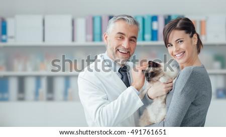 Veterinarian Doctors with pets Stock photo © colematt