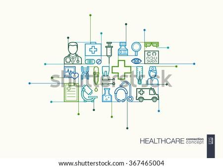 Healthcare concept on blue Stok fotoğraf © neirfy