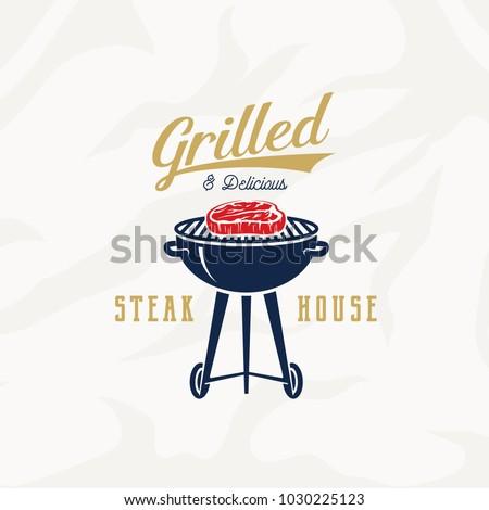 vintage · grill · partij · vector · ingesteld · bbq - stockfoto © netkov1