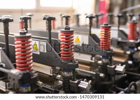 Rojo espiral detalles contemporáneo industrial Foto stock © pressmaster