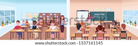 Ver estudante estudar secretária sala de aula Foto stock © wavebreak_media