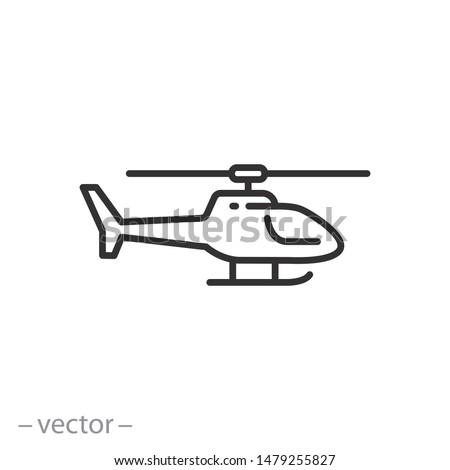 Militar helicóptero icono aislado blanco aire Foto stock © MarySan
