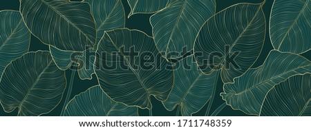 Absztrakt dísz minta pálmalevelek vektor arany Stock fotó © frimufilms