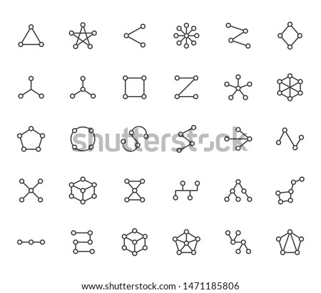 Linear Hexagon with editable stroke. Hexagon geometric polygonal logo. Stock Vector illustration iso Stock photo © kyryloff