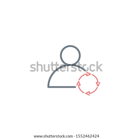 User icon with refresh or sync circle arrows. Stock Vector illustration isolated on white background Stock photo © kyryloff
