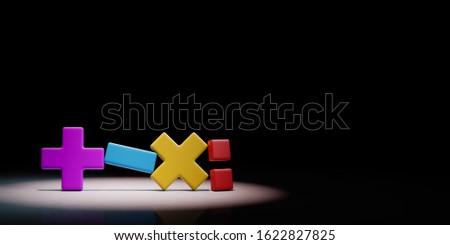 Math Symbol schwarz 3D-Darstellung vier Kopie Raum Stock foto © make
