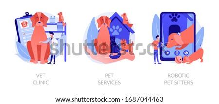 Pets medical service and entertainment vector concept metaphors Stock photo © RAStudio