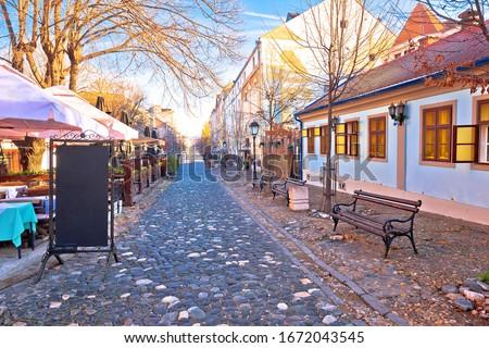 Belgrade. Famous Skadarlija old cobbled streets in historic Beog Stock photo © xbrchx