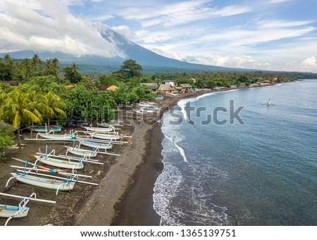 Praia bali Indonésia tradicional pescaria Foto stock © galitskaya