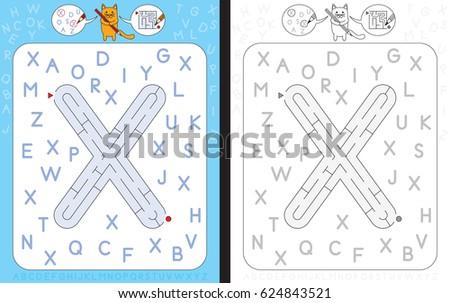 Capital letter X Stock photo © grafvision