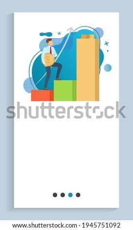 Increasing in Profits Male with Gold Coin Poster Stock photo © robuart