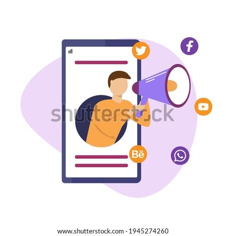 Inhoud massa media marketing vector metafoor Stockfoto © RAStudio