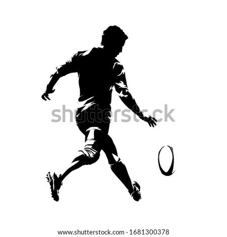 регби игрок мяча задний ретро Сток-фото © patrimonio