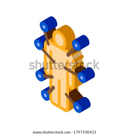Doll With Pins isometric icon vector illustration Stock photo © pikepicture