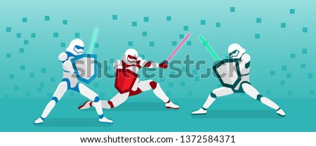 combat aircraft team colored vector illustration for designers stock photo © leonido