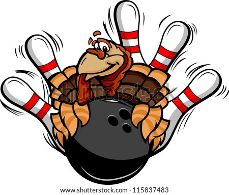 Billiards Nine Ball Thanksgiving Holiday Turkey Cartoon Vector I Сток-фото © ChromaCo