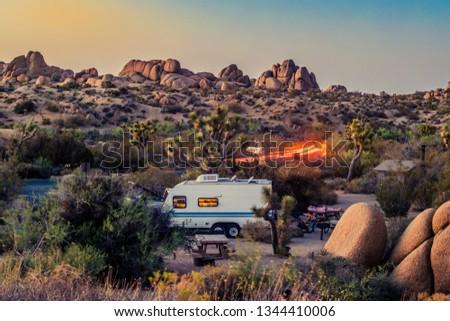 Rocks Yucca  Brevifolia Mojave Desert Joshua Tree National Park  Stock photo © billperry