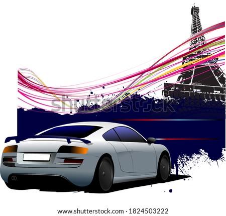 cabrio · sziluett · sziluettek · hét · színek · vektor - stock fotó © leonido