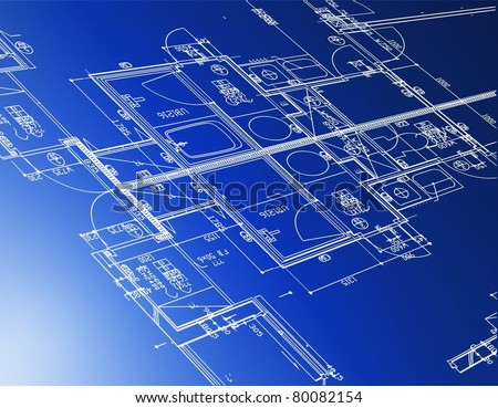 Sample Of Architectural Blueprints Over A Blue Background Blue Сток-фото © alexmillos