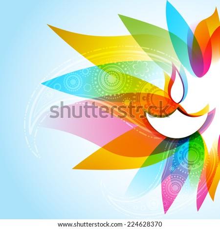 Vetor belo elegante feliz diwali colorido Foto stock © bharat