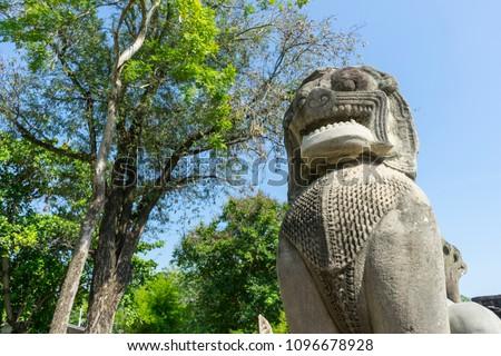 Castillo histórico parque antigua Tailandia paisaje Foto stock © tungphoto