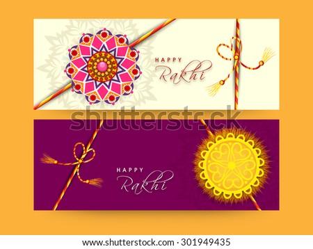 Beautiful Raksha bandhan celebration Presentation card set colle Stock photo © bharat