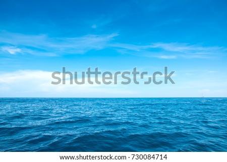 Ondulation mer paysage horizon ciel bleu Photo stock © smeagorl