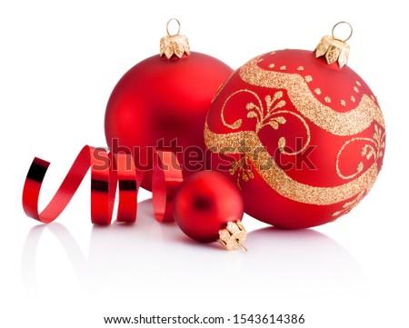 christmas · nieuwe · jaren · drie · speelgoed - stockfoto © AntonRomanov