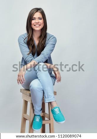 Longues jambes joli femme isolé blanche Photo stock © Nobilior