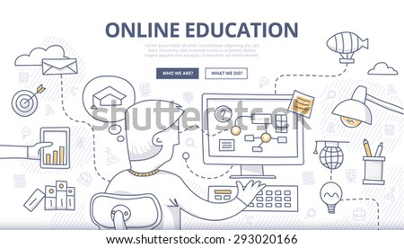 Educational and Learning concept with Doodle design style :teaching solution Stock photo © DavidArts