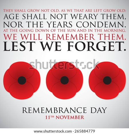 Remembrance Day card in vector format. stock photo © piccola