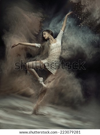 art photo of a young female dancer stock photo © konradbak