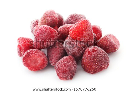 frozen strawberries stock photo © digifoodstock