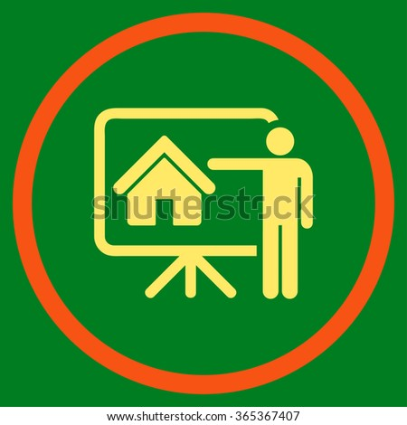 Realtor flat yellow color rounded glyph icon Stock photo © ahasoft