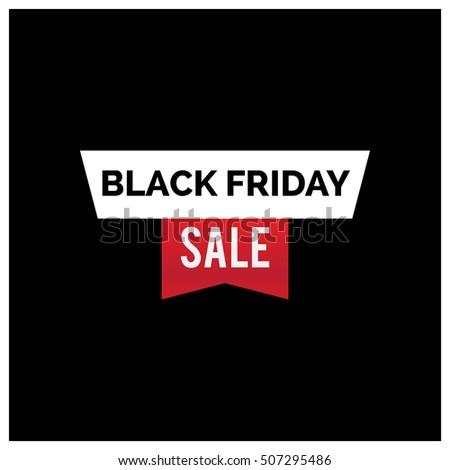 black friday sale inscription design template rectangular banne stock photo © diamond-graphics