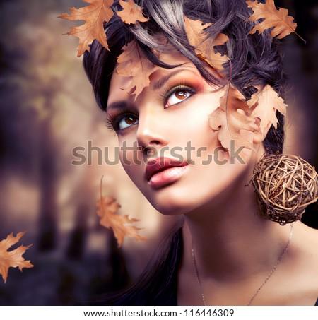 Fiatal elegáns nő divat smink hajviselet Stock fotó © iordani