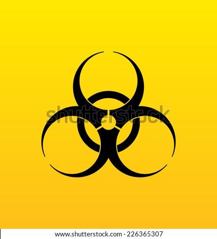 Assinar aviso radiação perigo Foto stock © popaukropa